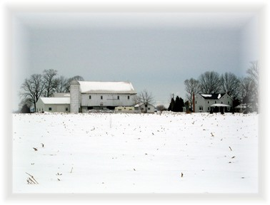 Lancaster County farm snowscape
