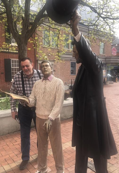 Abraham Lincoln statue, Gettysburg, PA 4/28/19