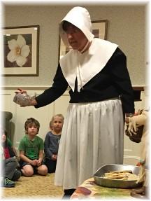 Brooksyne dressed as Pilgrim 11/11/16