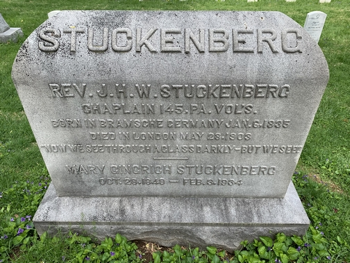 """""""But we see"""" Gettysburg tombstone"""