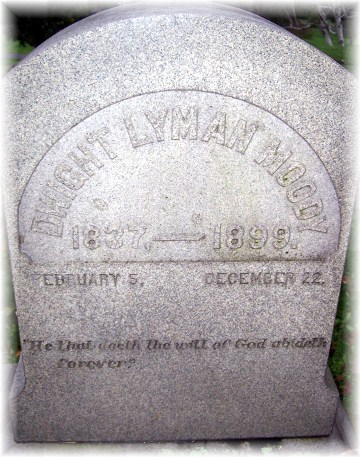 DL Moody tombstone