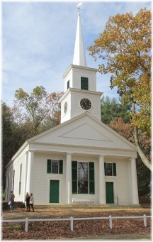 Old Sturbridge Village meetinghouse (Creative Commons Attribution-Share Alike 3.0 Unported license)