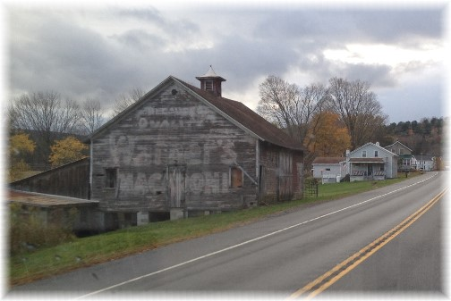 Barn ghost sign near Portlandville, NY 10/18/14