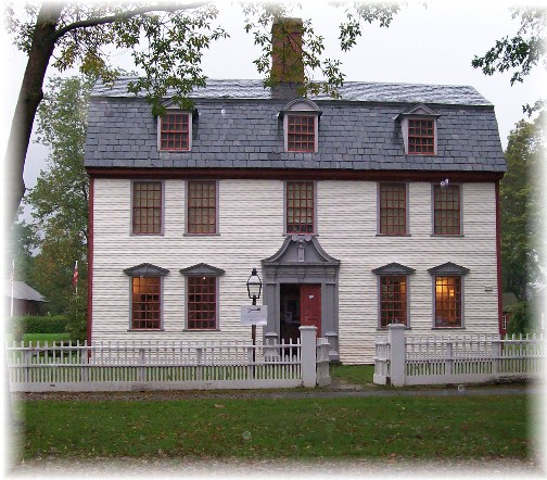 Colonial home in Old Deerfield Village, Masachusetts