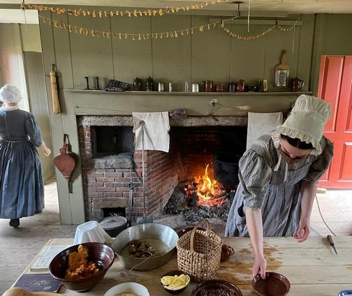 Old Sturbridge Village farmhouse kitchen