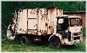 Old trash truck