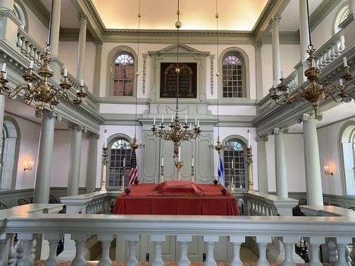 Interior of Touro Synagogue, Newport, RI