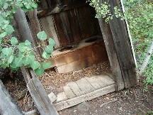 Two seater outhouse