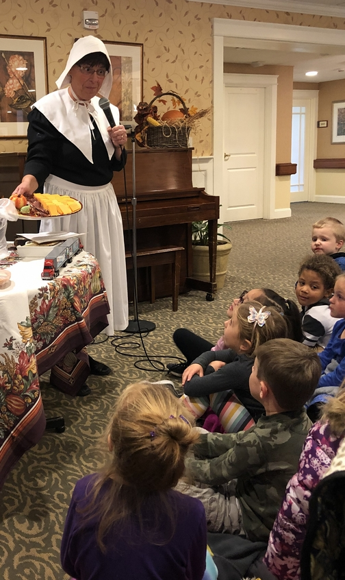 Pilgrim history presentation at Willow Valley 11/8/19