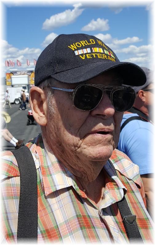 WW2 veteran at Reading Air Show 6/3/17