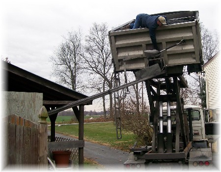 2008 coal delivery to Weber's home