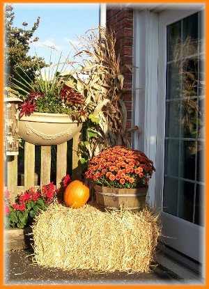 Autumn decoration at Weber home
