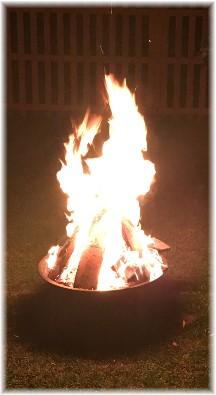 Backyard fire 9/5/16