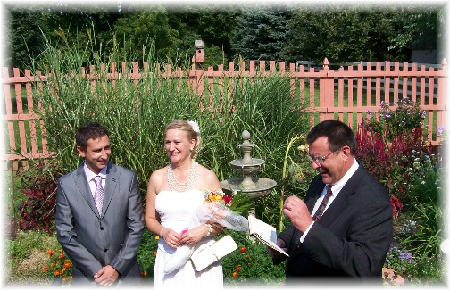 Backyard wedding 9/11/11