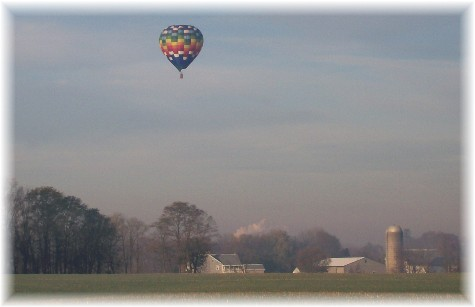 Balloon over Lancaster County 11/14/10