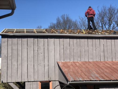 Barn roof uncovered
