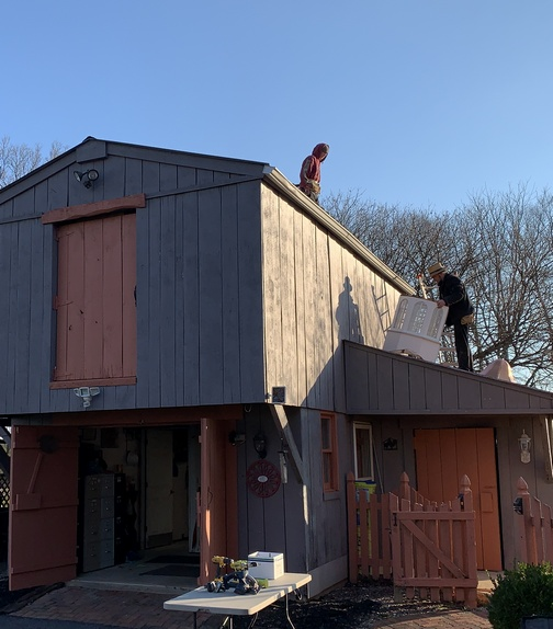 Barn roof work