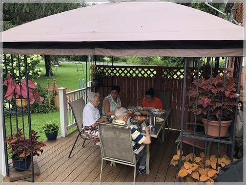 Breakfast with Jesse and Wilma Dourte 8/4//18