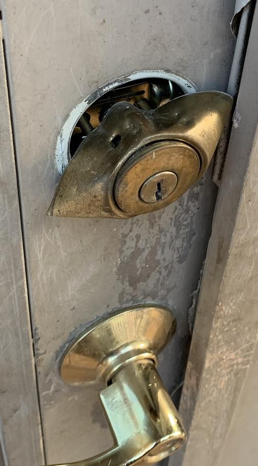 Chewed lock 7/16/19