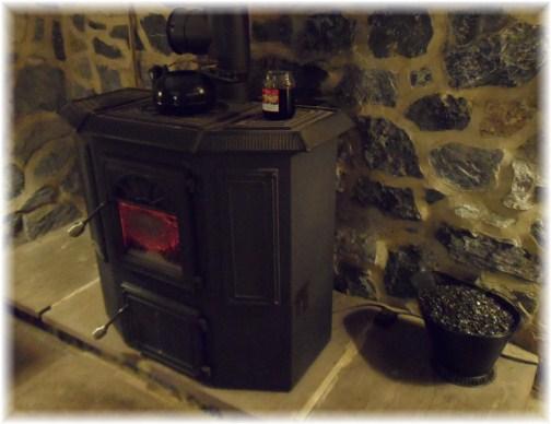 Coal stove exterior