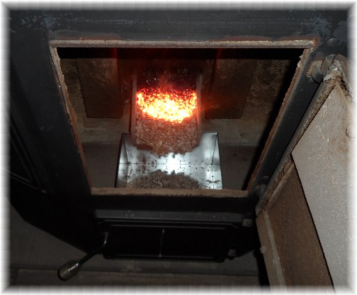 Coal stove interior