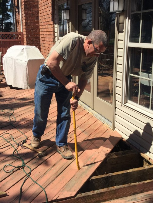 Deck replacement 4/16/16