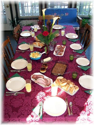 Dinner table 12/21/08