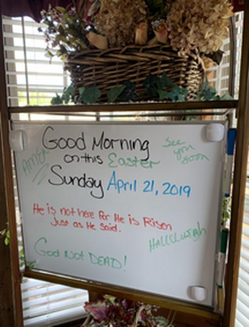 Easter whiteboard 4/21/19
