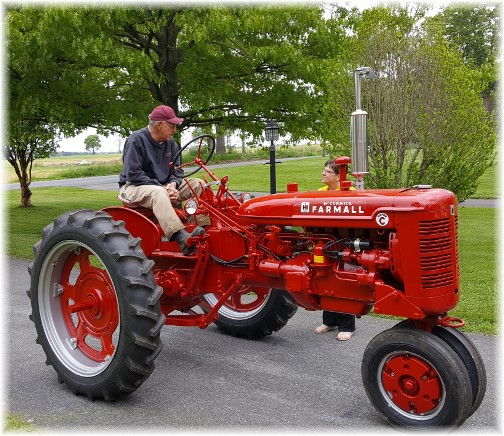 Larry on 1953 FarmAll tractor 5/12/17