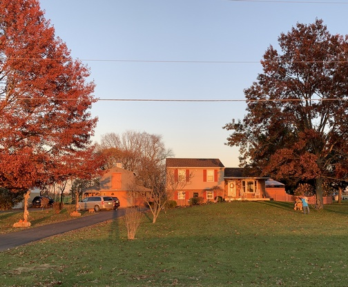 Our home on a bright Autumn afternoon 11/16/19 (Click to enlarge)
