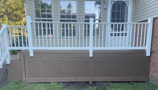 New deck skirting
