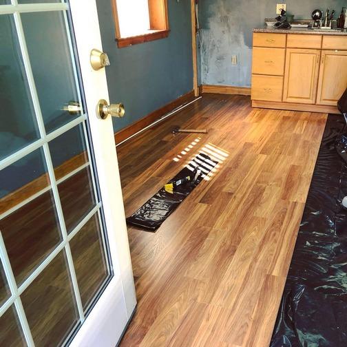 New floor installation 7/13/19