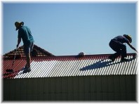 Painting barn roof