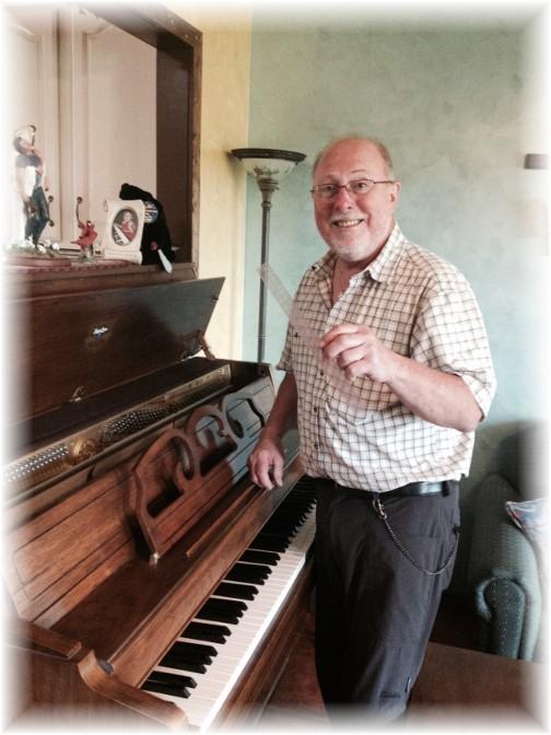 Ruler in piano