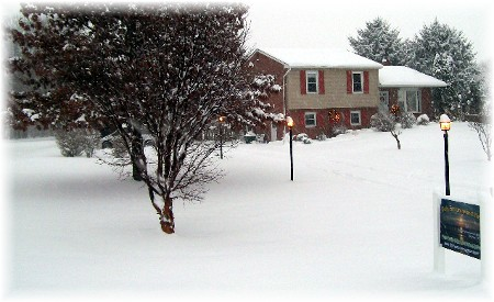 Snow storm at dusk 12/19/09