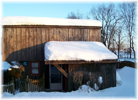 Snowy barn 2/12/10