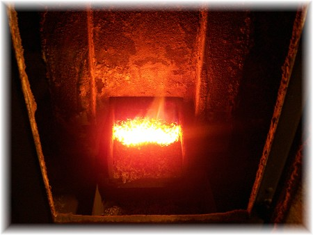 Inside coal stove