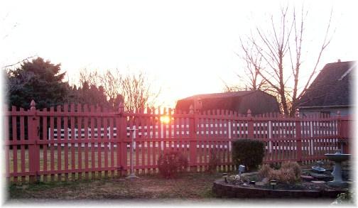 Lancaster County sunrise 3/14/12
