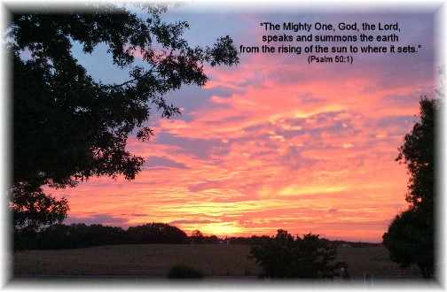 Sunset from Weber's porch 9/24/14 (photo by Ester