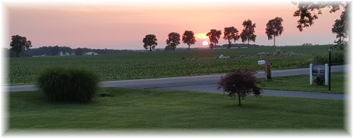 Sunset, Lancaster County PA 6/18/16
