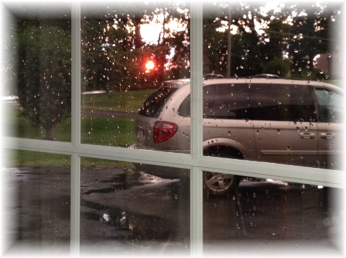Sunset in rain 7/10/14
