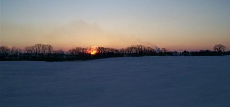Sunset over snow 2-10