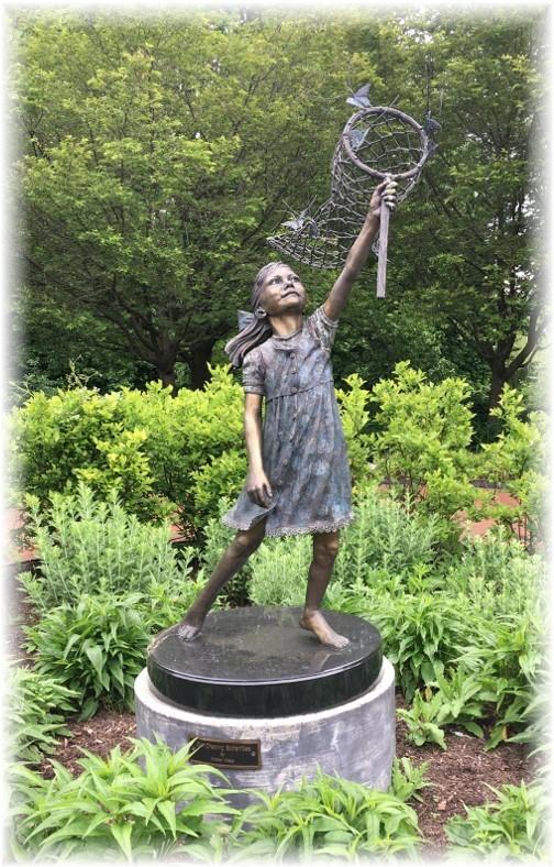 Hershey Gardens butterfly statue 5/23/17