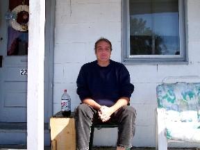 Jimmy on porch