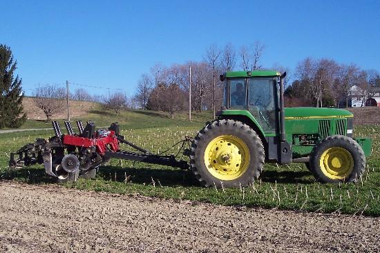 John Deere tractor with subsoiler