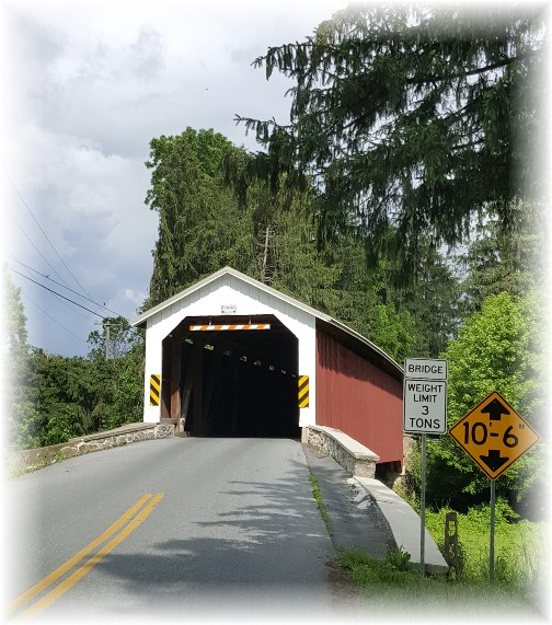 Forry's Mill Covered Bridge Lancaster County PA 6/8/16