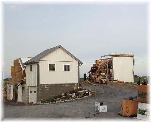 Storm damage to barn, Kraybill Church Road 8/16/16