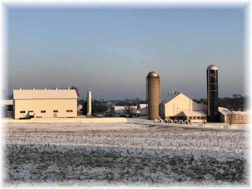 Amish farm in snow 12/14/17