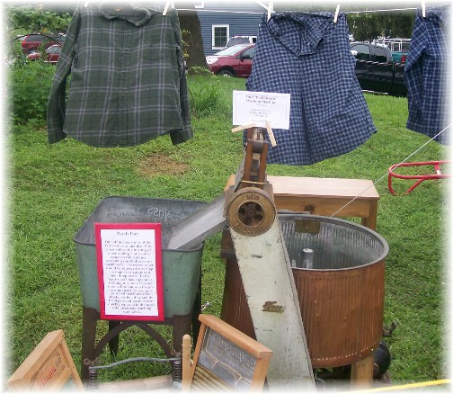 Old time laundry display at the Northwest Lancaster County Antique Tractor Expo 8/13/11