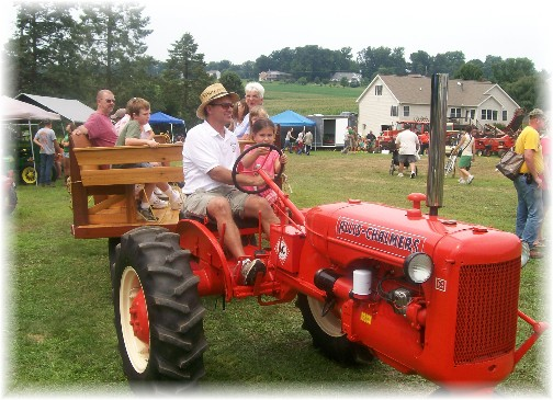 Tractor and wagon ride at the Northwest Lancaster County Antique Tractor Expo 8/13/11
